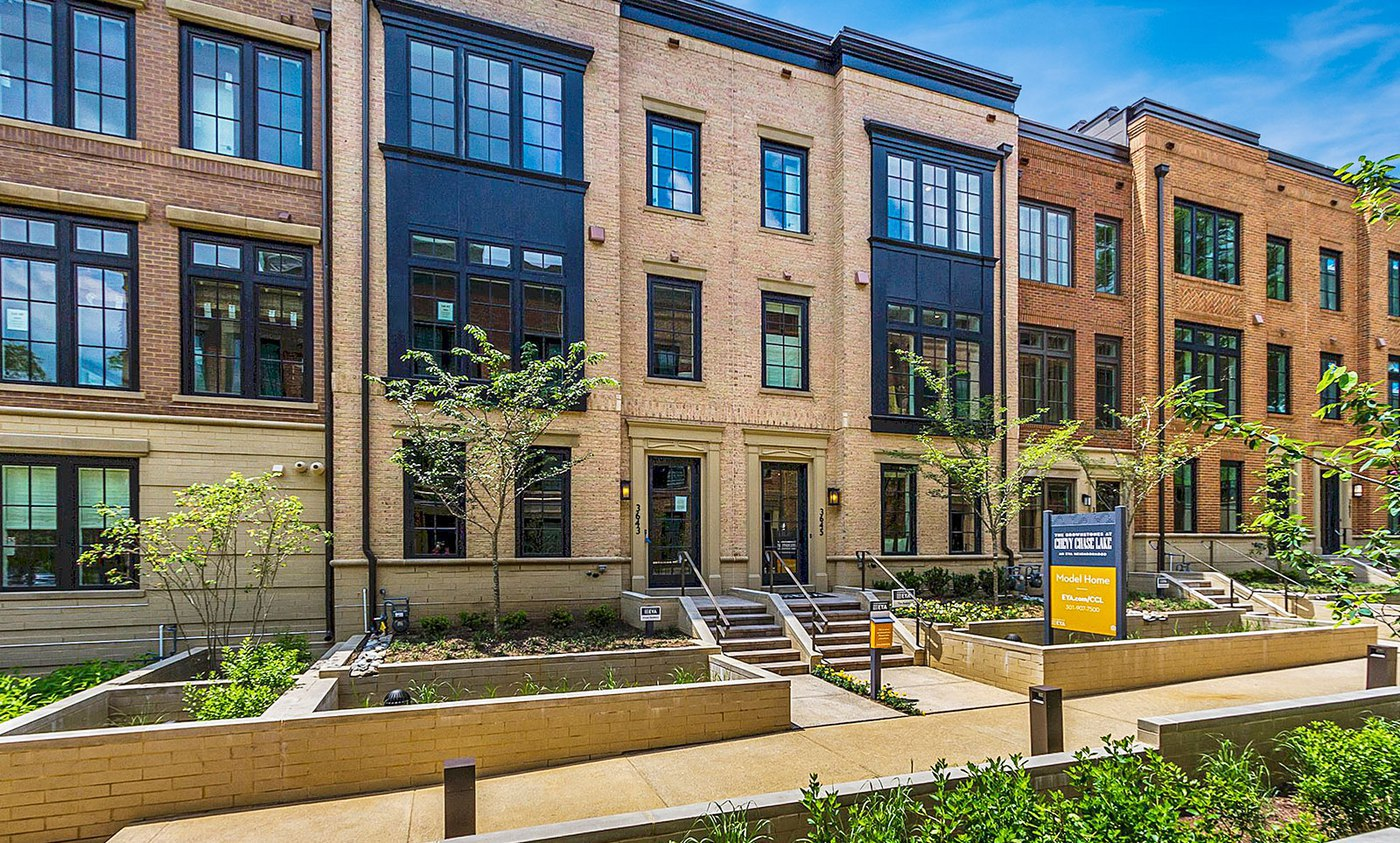 Classic brick exteriors and fine architectural detail with modern expansive windows