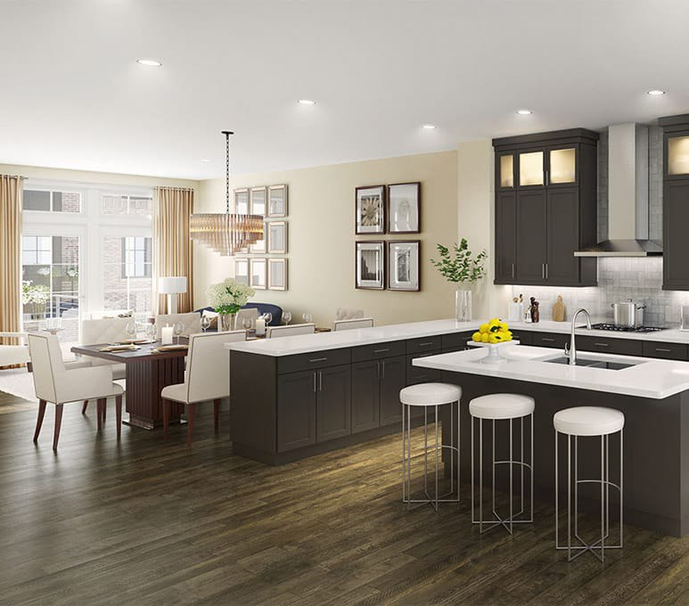 Open Floorplan Features In EYA's New Homes For Sale In Montgomery County