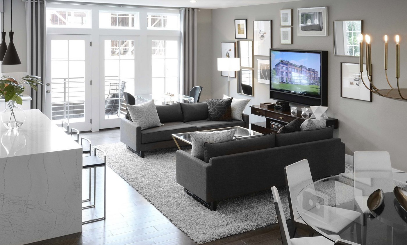 Spacious open floorplans are made even better with floor to ceiling windows