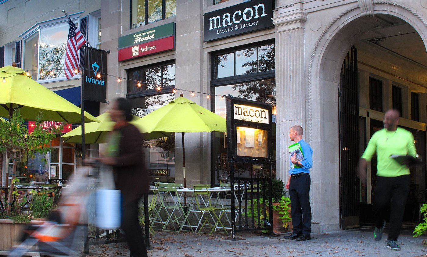 Enjoy a trove of retail and Chevy Chase restaurant options in the neighborhood