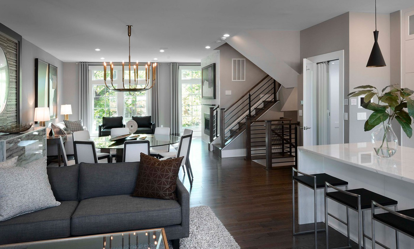 The open floor plan in the Avalon model creates space for entertaining