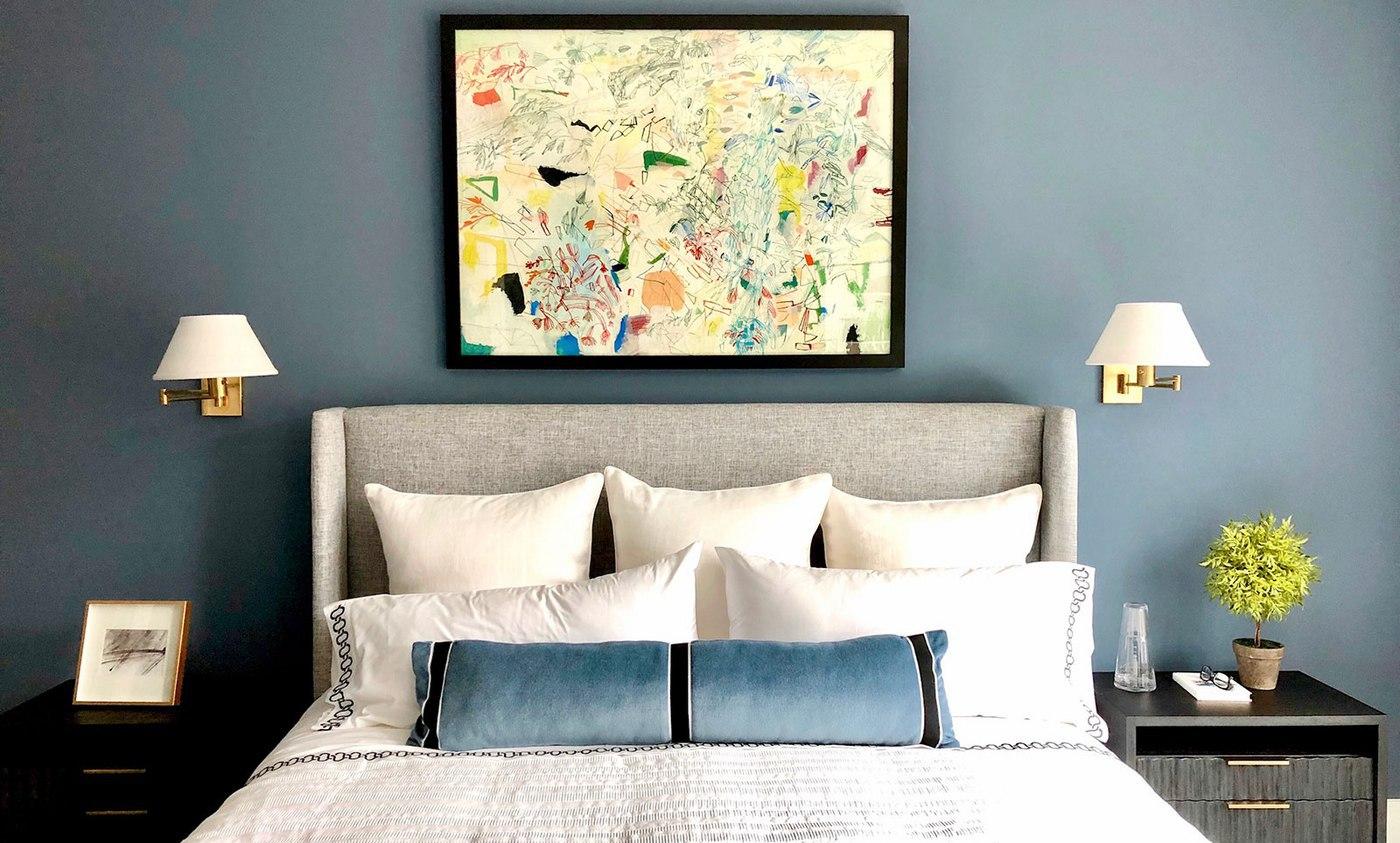 A simple, elegant design makes this master bedroom inviting